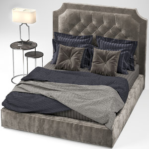 bed bedcloth model