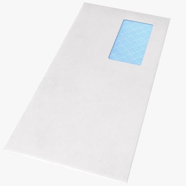 real envelope 3D model