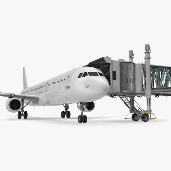 3D passenger boarding bridge aircraft