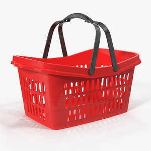 3D plastic shopping basket handles