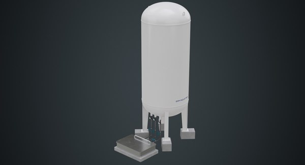 3D model industrial gas tank contains