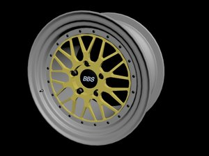 3D bbs lm car rim model