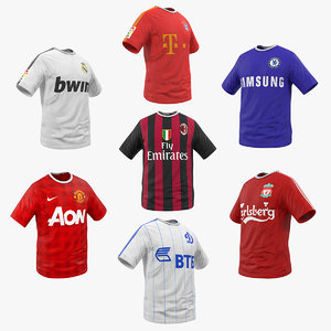 3D soccer t-shirts 2 t shirt model