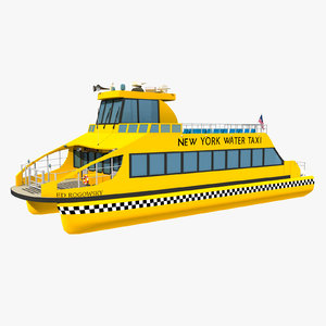 new york water taxi 3D model