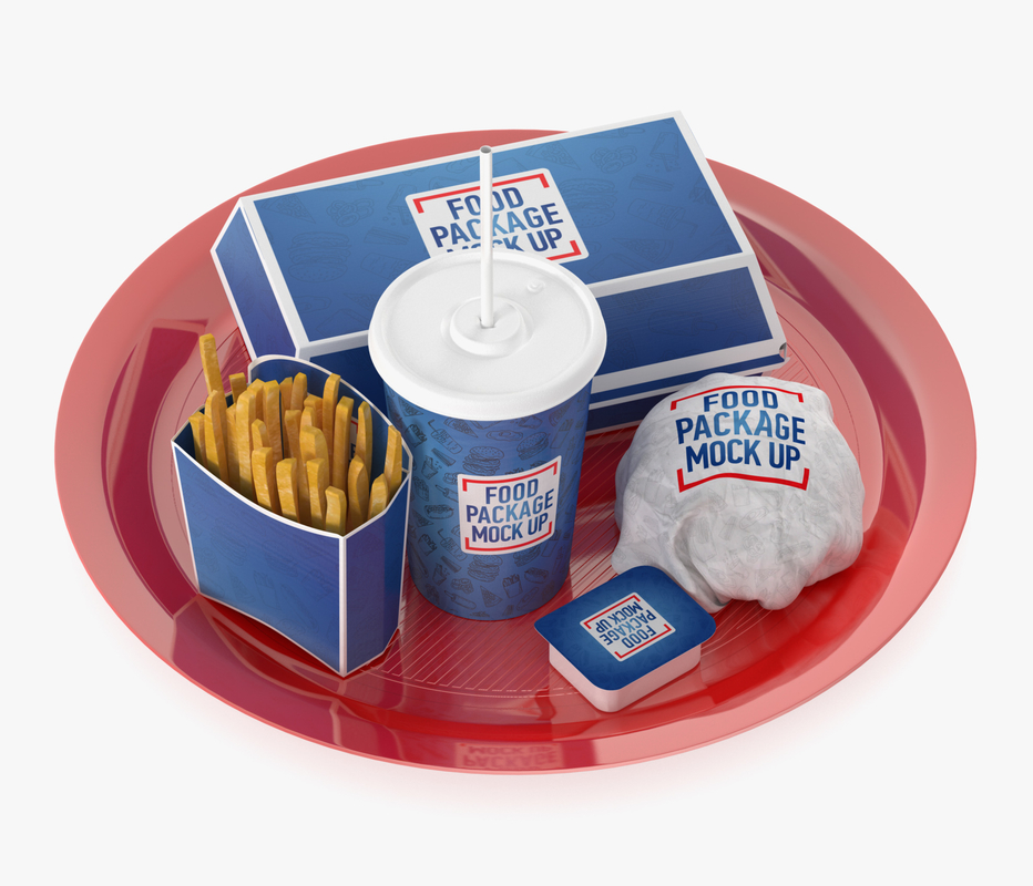 fast food tray 3D model