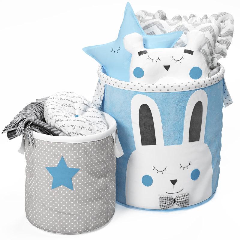 3D basket blue