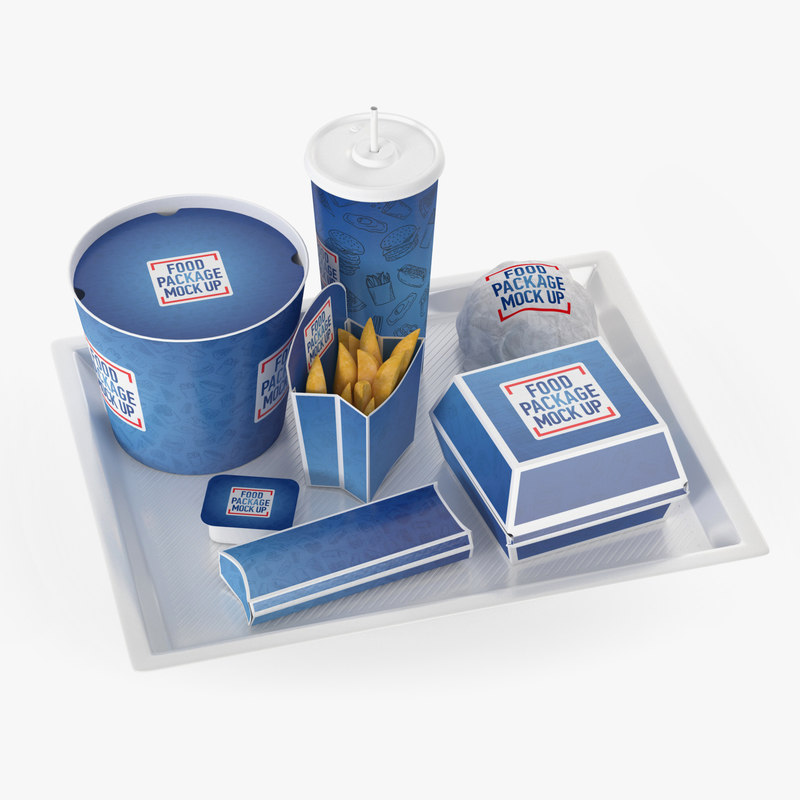 fast food tray 3D