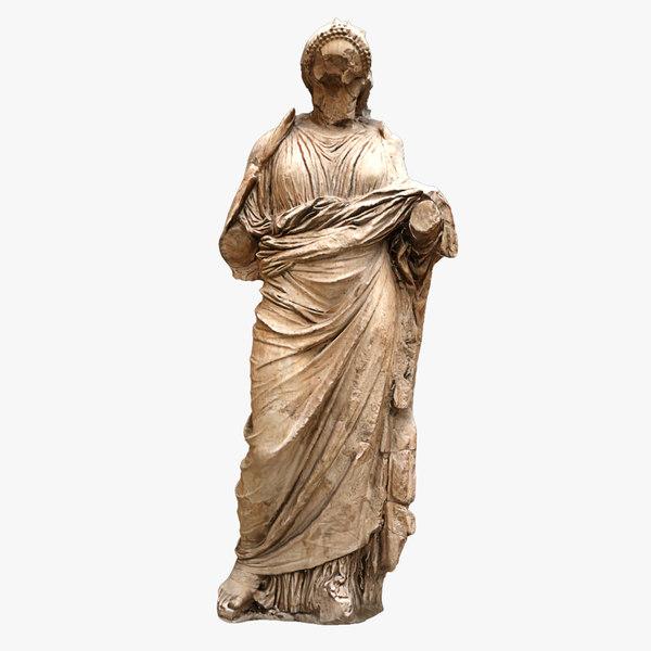 3D statue sculpture ruins