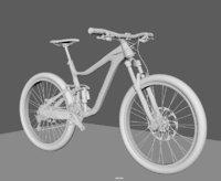 3D giant reign 2 bike model