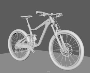 3D giant reign 2 bike model