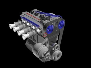 toyota 4a-ge engine 3D