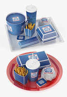 3D fast food trays model