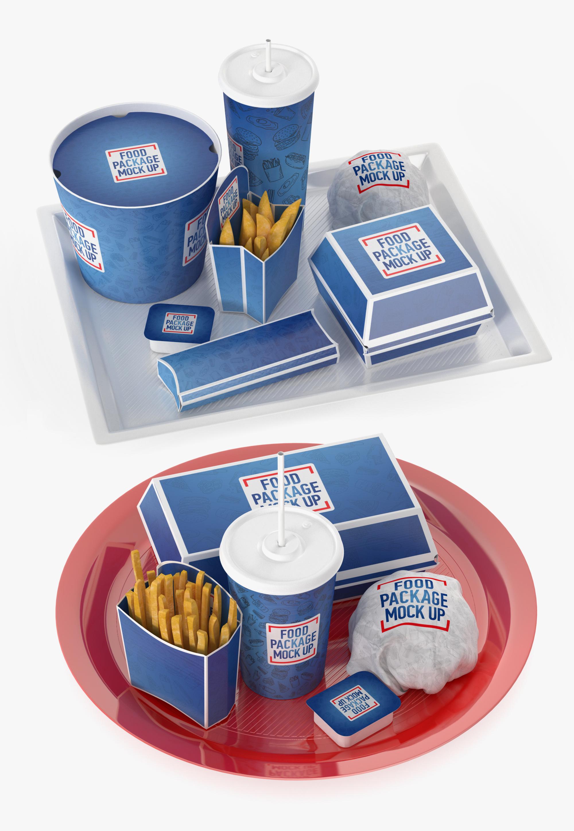 3D fast food trays model