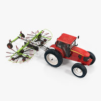 tractor used twin rotor 3D model