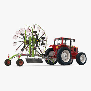 3D model tractor used twin rotor