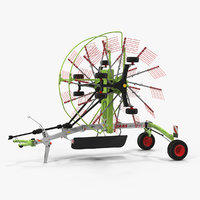 twin rotor hay rake 3D model