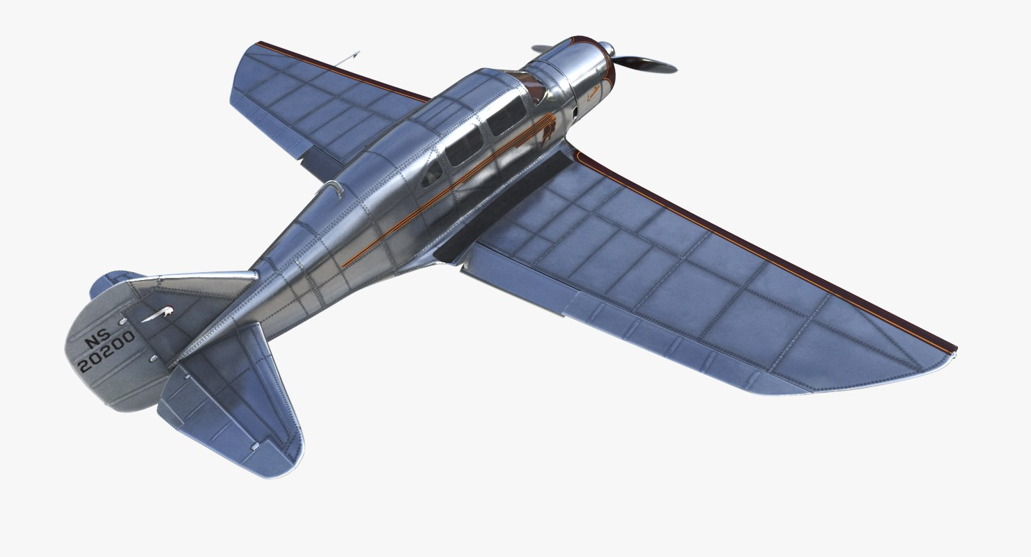 3D model spartan 7w airplane