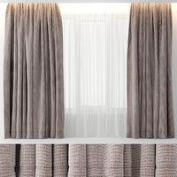 curtains velour 3D model