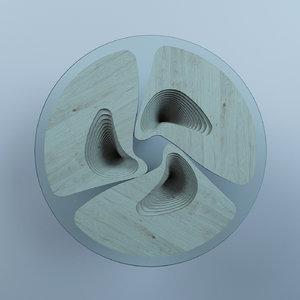 parametric table 3D model