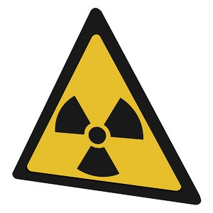 3D model radiation symbol