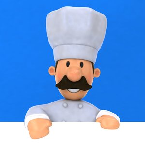 fun chef ! rigged biped 3D model