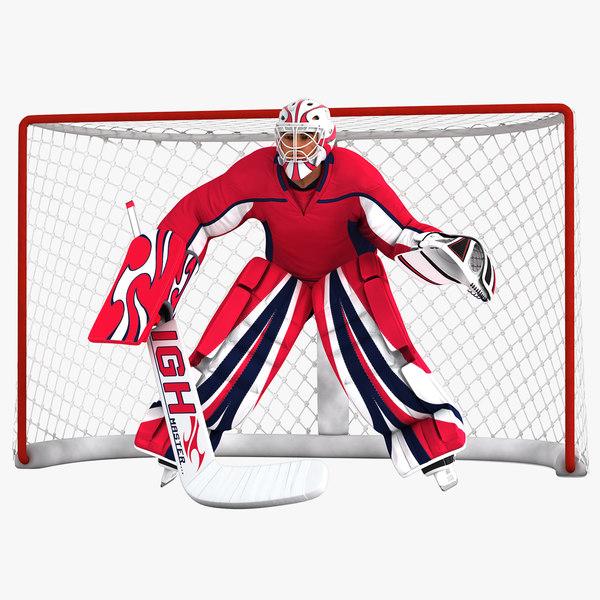 3D model hockey goal