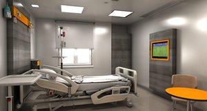 hospital room model
