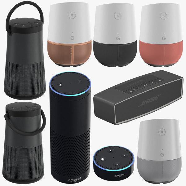 bluetooth speakers 3D model