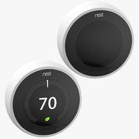 3D nest thermostat model