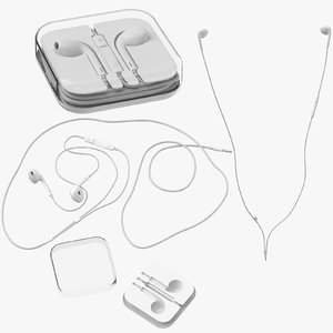 apple ear buds 3D model