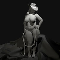 3D nude female curvy