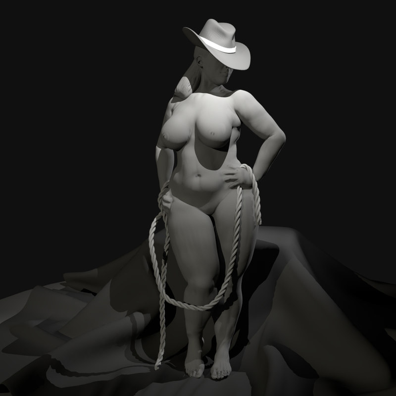 Curvy nude model