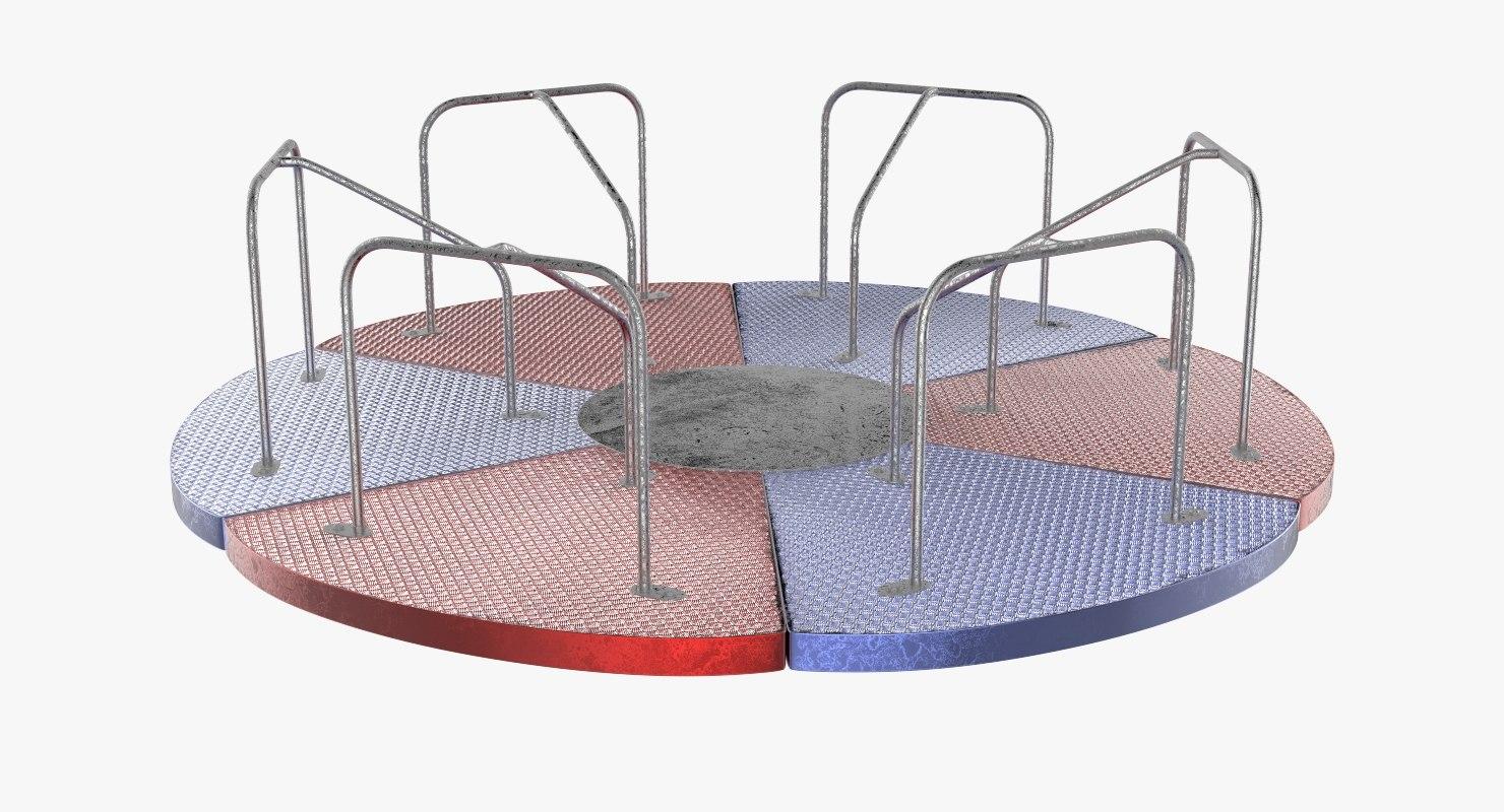 3D playground carousel