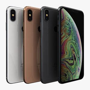 apple iphone xs color 3D model