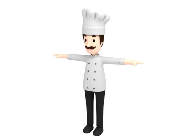 3D chef character cartoon