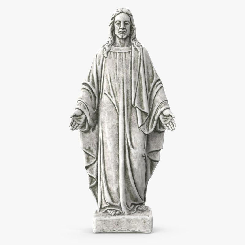 jesus christ statue 3D model