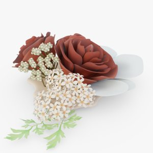 3D model bouquet flower decoration
