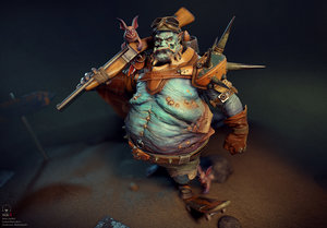 crasus character 3D model