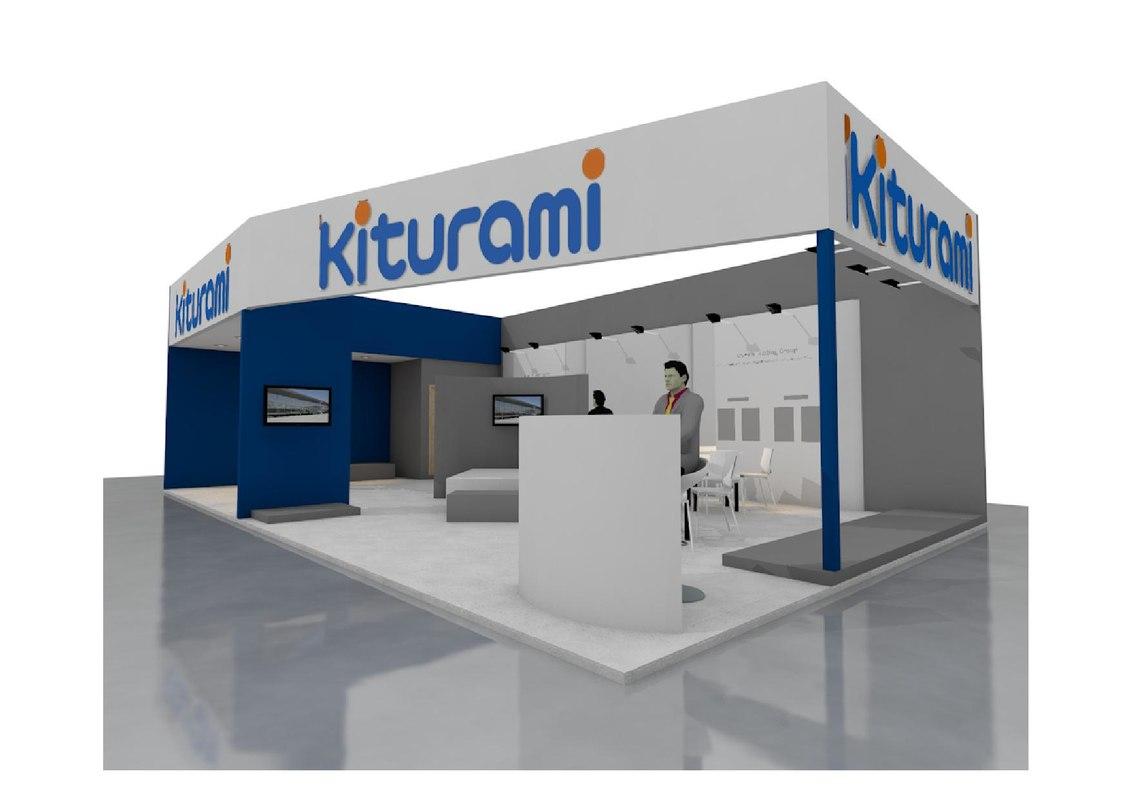 Exhibition Stall Xl : 3d exhibition stand model turbosquid 1332974