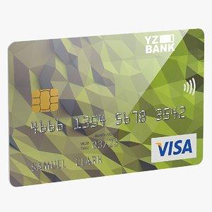 credit card 3D model
