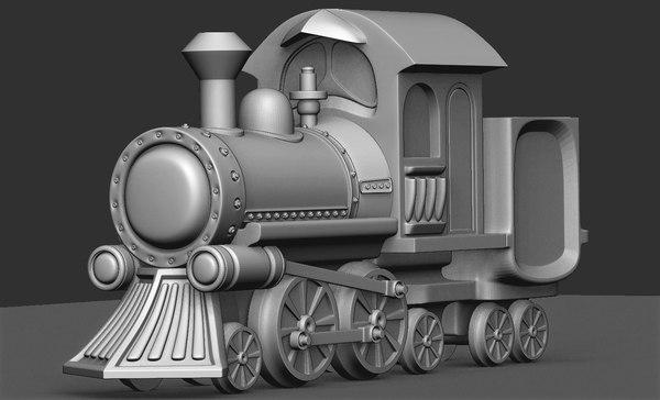 loco locomotive toy 3D
