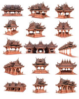 3D pagoda city pack 21
