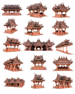 3D pagoda city pack 21
