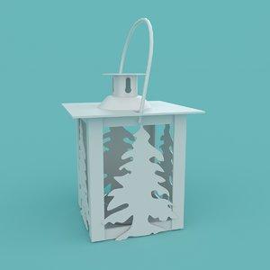 christmas tree lantern 3D model