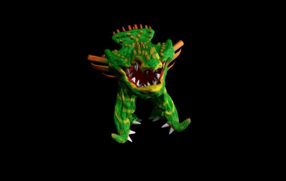 3D legged monster character