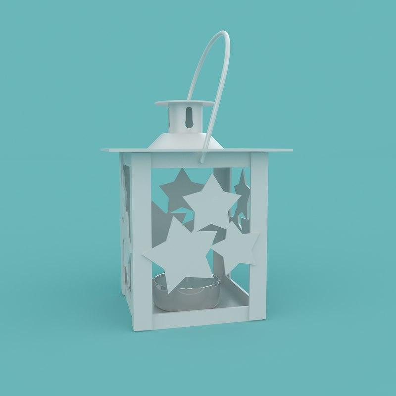 3D christmas stars lantern