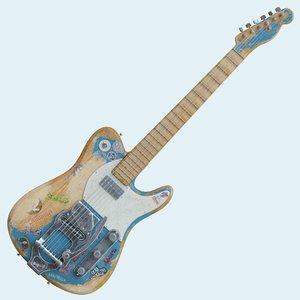 grunge fender telecaster 3D model