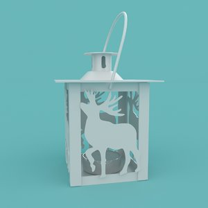 christmas deer lantern 3D model