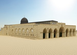 3D al-aqsa mosque architecture interior model