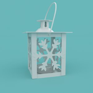 3D christmas snowflake lantern